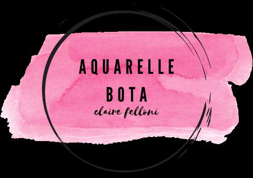 Aquarelle bota clairefelloni